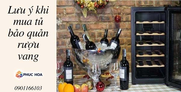 Lưu ý khi mua tủ bảo quản rượu vang